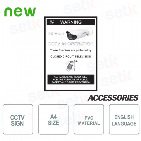 CCTV Video Surveillance Sign - PVC