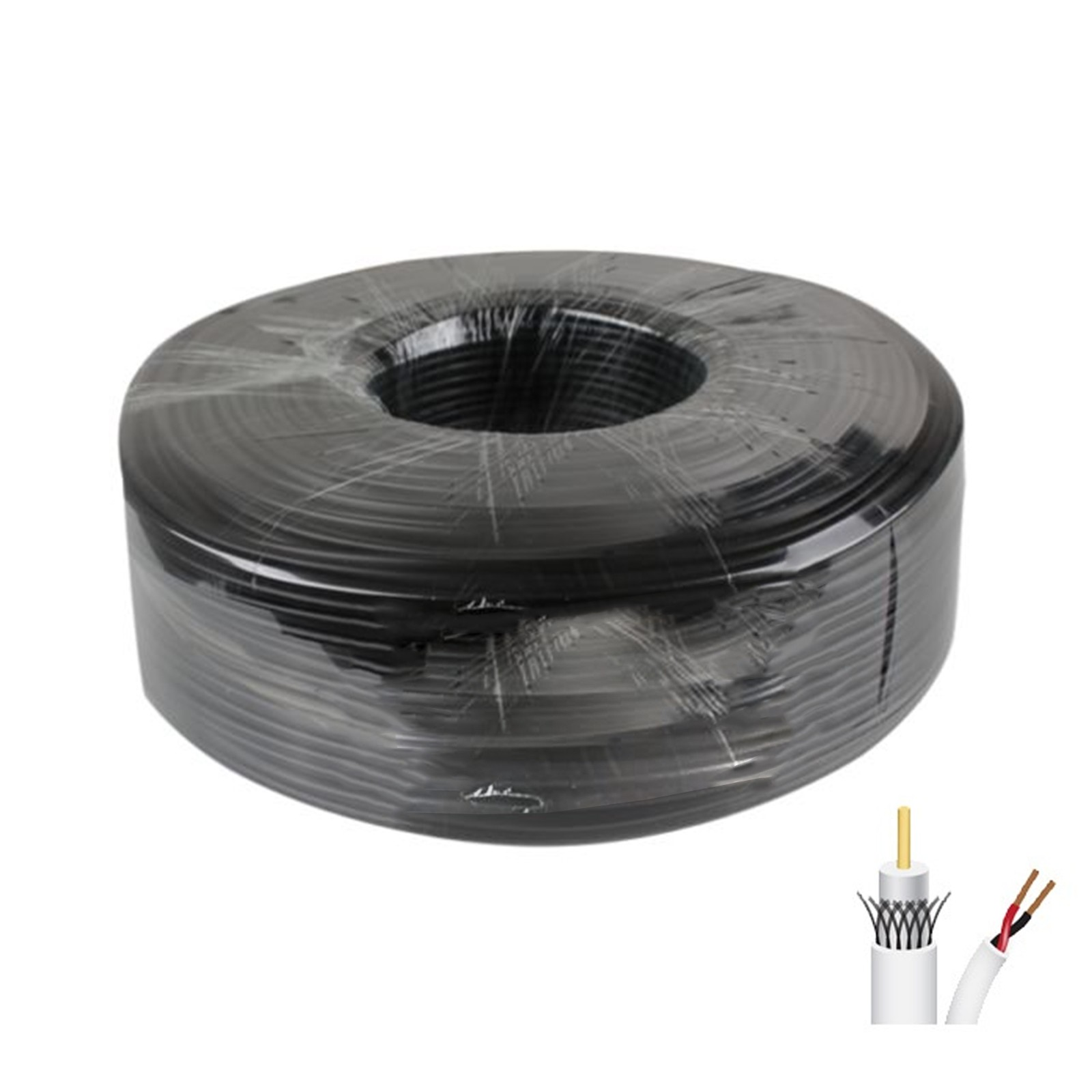 100MT+PRG59CCS - RG59 Coaxial cable skein 100MT ccs + Power - prices