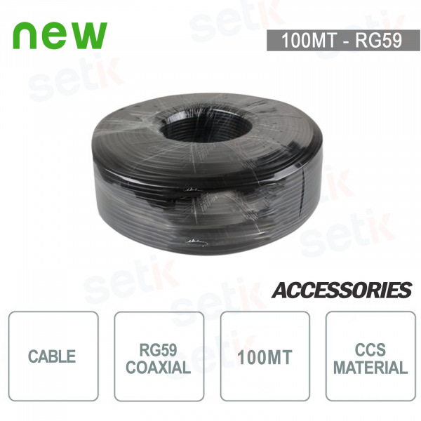 100 Meters RG59 Coaxial Cable Skein - CCS - Setik