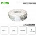 Cavo Ethernet Rete 100 Metri CCA 6 UTP Matassa RJ45 LAN Internet