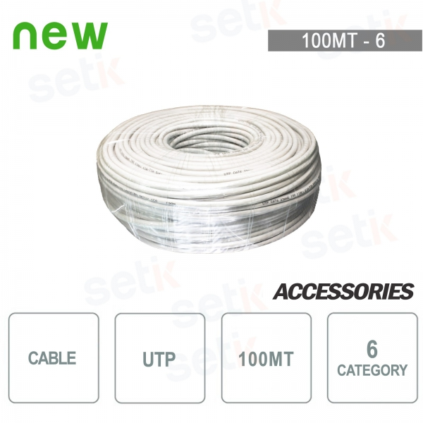 Wire Cable Skein UTP CAT 6 CCA 100MTS