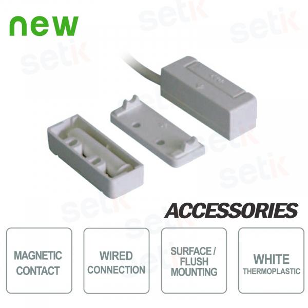 Contatto Magnetico Bianco da Incasso o a Vista - CSA