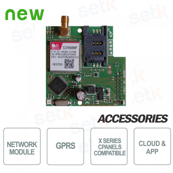 Module for communications on GPRS - AMC network
