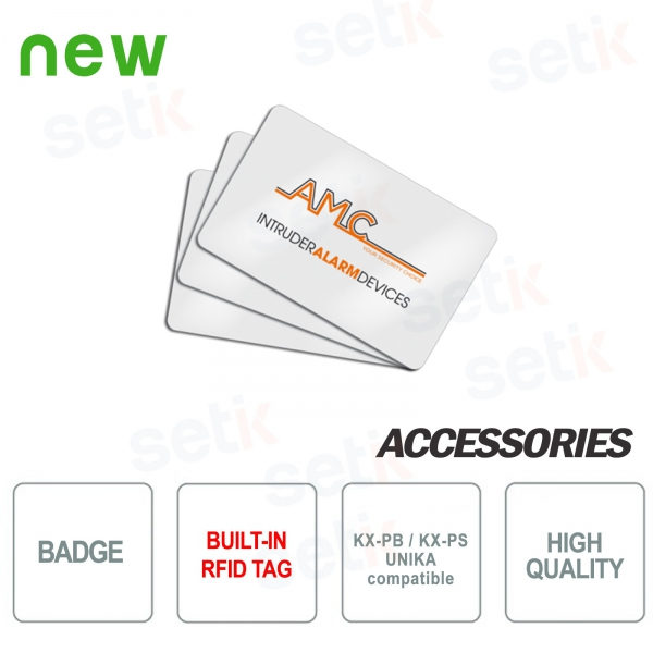 Badge with RFID tag -