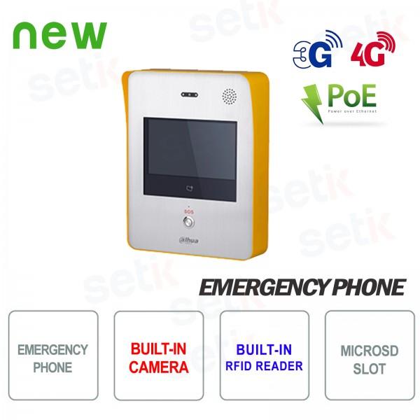 Telefono d'emergenza Dahua PoE Cam RFID 3G/4G