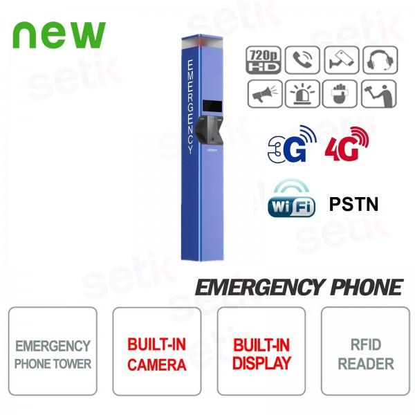 Telefono di emergenza colonnina SOS con telecamera e Display Dahua