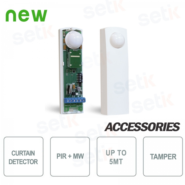 Double Technology Sensor for Doors Window Curtain Effect - AMC