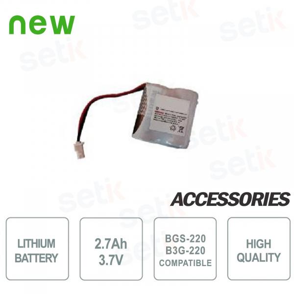 Batteria al litio 2.7Ah - 3.7V per BGS-220/B3G-220 Bentel