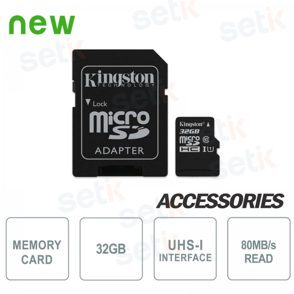 32GB Class 10 MicroSD Canvas Select Card - Kingston