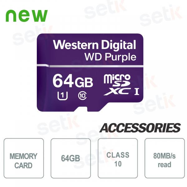 MicroSDXC Western Digital 64 GB Class 10 UHS