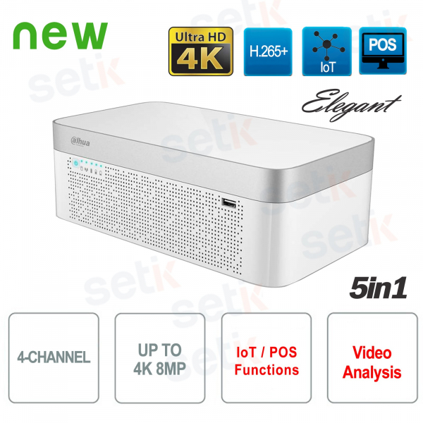 DVR 4 Channels HD CVI AHD TVI ANALOGIC IP 4K - Elegant Dahua