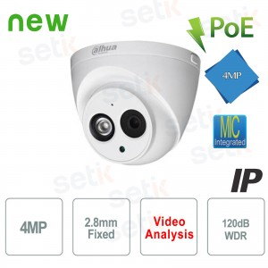 Caméra IP 4 Mégapixels 2.8mm... Dahua Technology IPC-HDW4433C-A Caméras IP