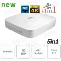 4 Channel DVR 8MP HD CVI AHD TVI ANALOGUE IP 4K - Dahua