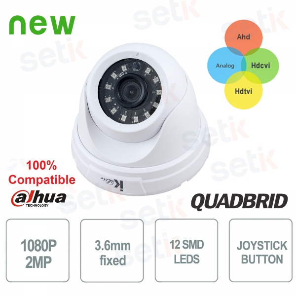 Video surveillance camera 1080P Dome 4in1 Analog / Ahd / Tvi / Cvi 3.6mm - indoor - Setik