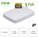 4K 4-channel IP NVR & H.265 8MP 8 PoE - Dahua