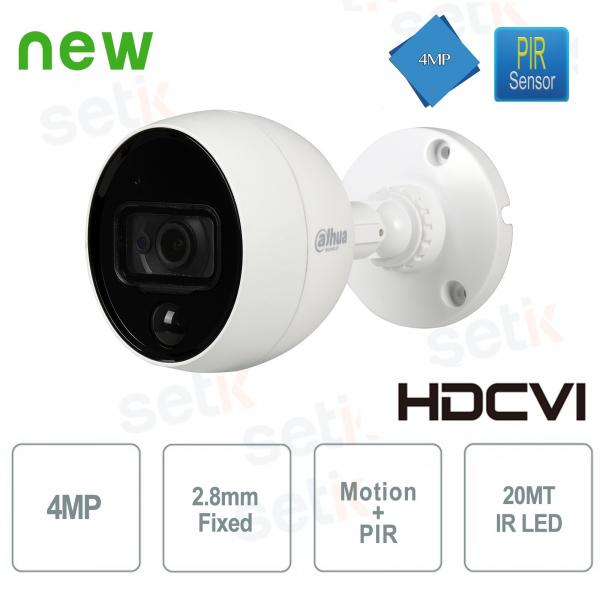 Telecamera HD CVI 4MP PIR Allarme MotionEye Dahua