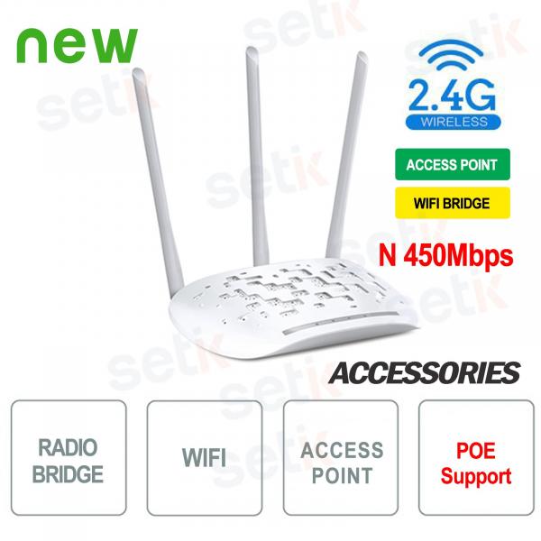 Access Point WiFi Bridge 450 N 2.4GHz - Setik