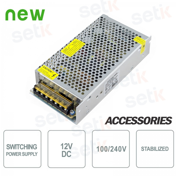 12V 10A Switching Power Supply - Stabilized - Setik