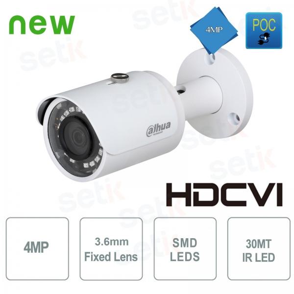 Telecamera HD CVI Bullet 4MP 2.8mm IR POC - Dahua