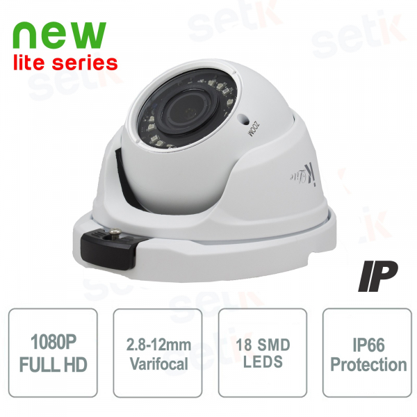 IP Camera 2MP 1080P Dome 2.8-12mm IR - Lite Version