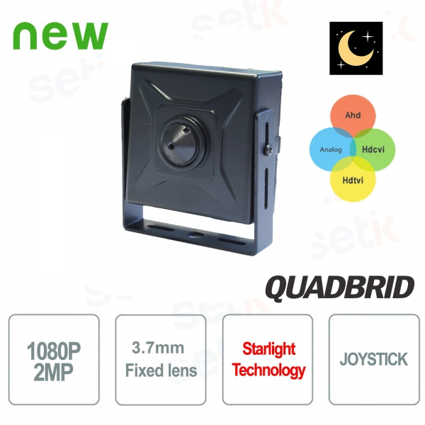 "1080P Starlight 4in1 ""ANALOG / AHD / CVI / TVI Hidden Camera Setik"