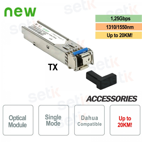 Single-mode optical fiber 1.25G TX 1310nm / 1550nm 20KM LC Dahua