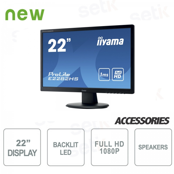 "ProLite 22 ""Full HD Monitor - DVI - HDMI - Speaker - Vesa Attack - IIYAMA"