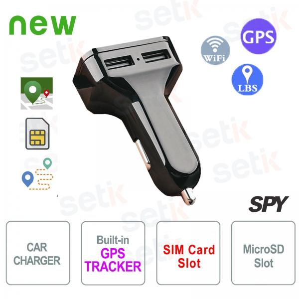 Caricabatterie per auto USB Dual con GPS Tracker Setik