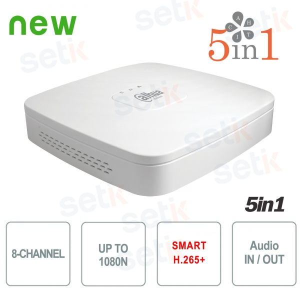 DVR 8 Canali CVI AHD TVI ANALOGICO IP 1080N H.265+ Dahua
