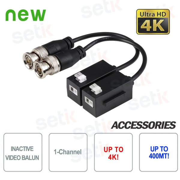 Passive Video Balun Couple 4K HD CVI TVI AHD CVBS Dahua