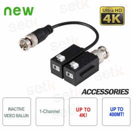 Coppia Video Balun Dahua Passivi 4K HD CVI TVI AHD CVBS