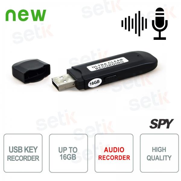 Chiavetta USB Spia 16GB - Registrazione Audio 300h - Setik