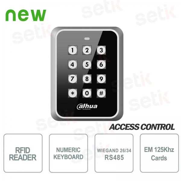 Lettore RFID EM 125KHz Wiegand RS485 con tastiera - Dahua