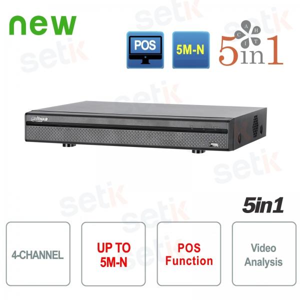 XVR 4 Canali 5M-N HDCVI AHD TVI ANALOGICO IP - Dahua