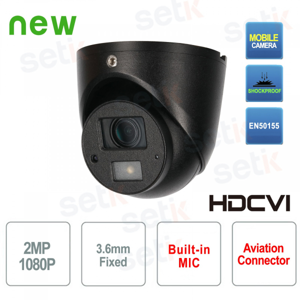 Camera Video Surveillance HD CVI 2MP Mobile IR 3.6mm Audio Dahua