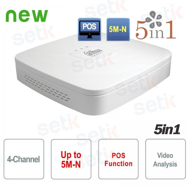 DVR 4 Canali Dahua XVR HD CVI TVI AHD ANALOGICO IP 5M-N H.265+ Dahua