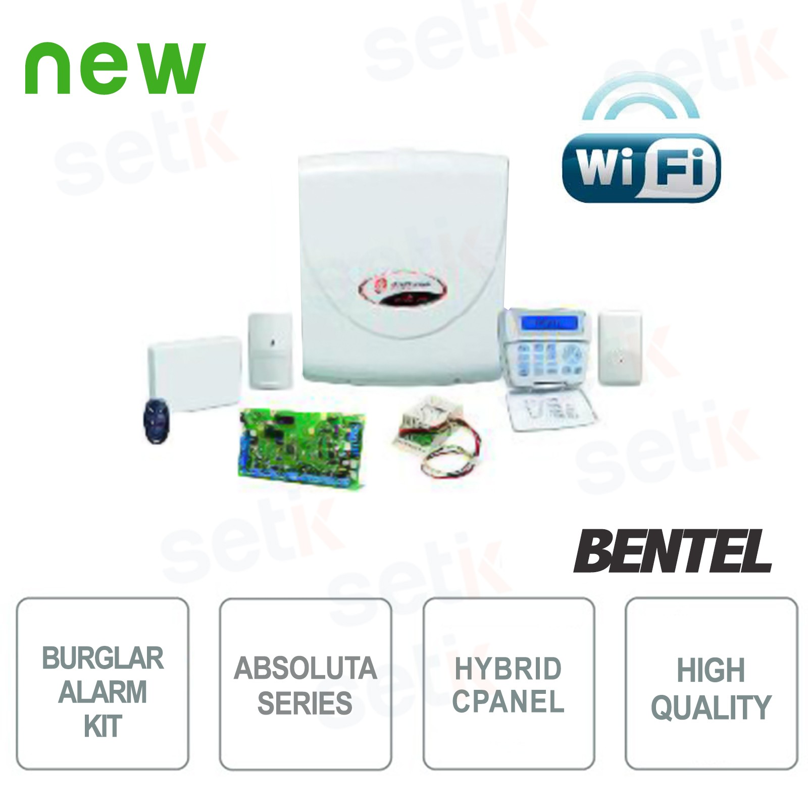 Abs 14kitsw kit antifurto completo bentel security for Bentel absoluta 42 prezzo