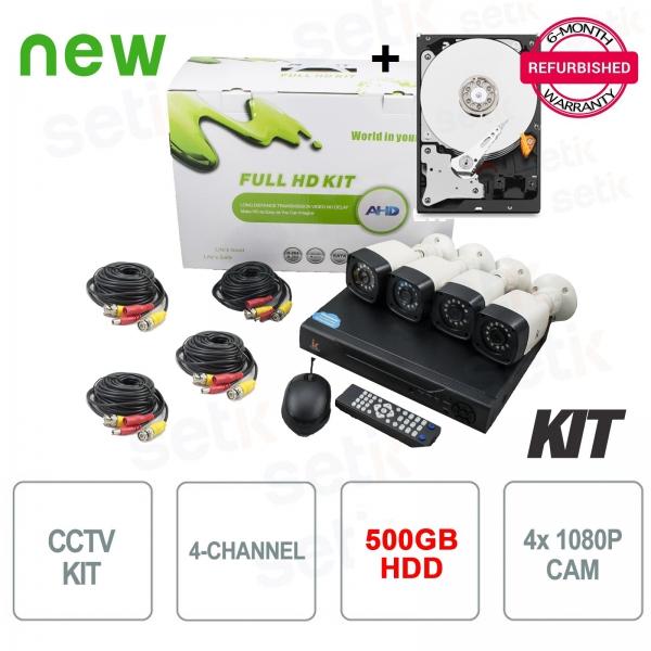 Kit Videosorveglianza AHD 4 Canali 5in1 1080P + HDD Omaggio - Setik