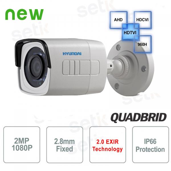 Hyundai 2 MP 4 in 1 Video Surveillance Camera Bullet 2.8 mm IR