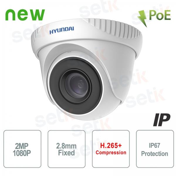 Telecamera IP ONVIF PoE da esterno Hyundai 2 MP Dome IR