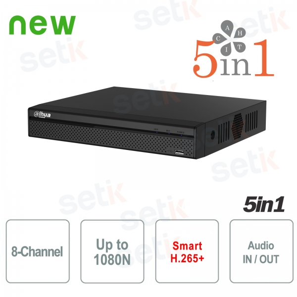 DVR 8 Channels XVR Dahua HD CVI TVI ANALOGUE AHD IP 1080N H.265 +