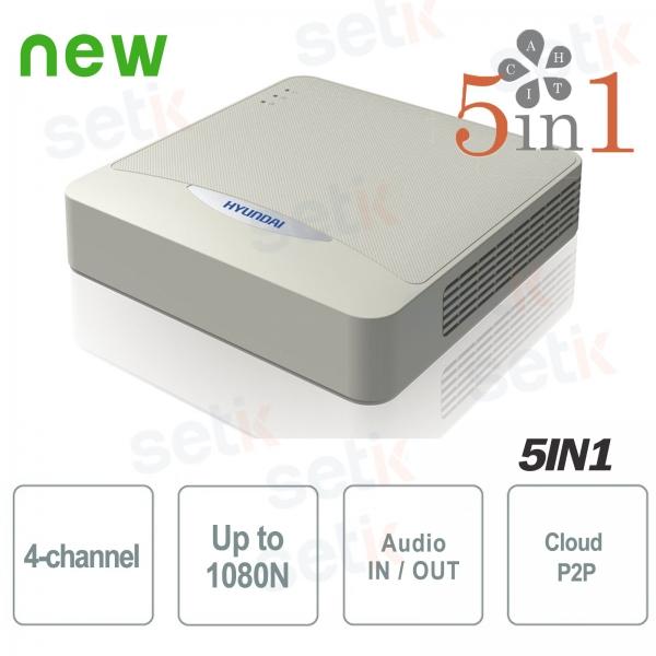 DVR 4 Canali IP HDCVI HDTVI AHD Analogico 1080N ZVR Hyundai