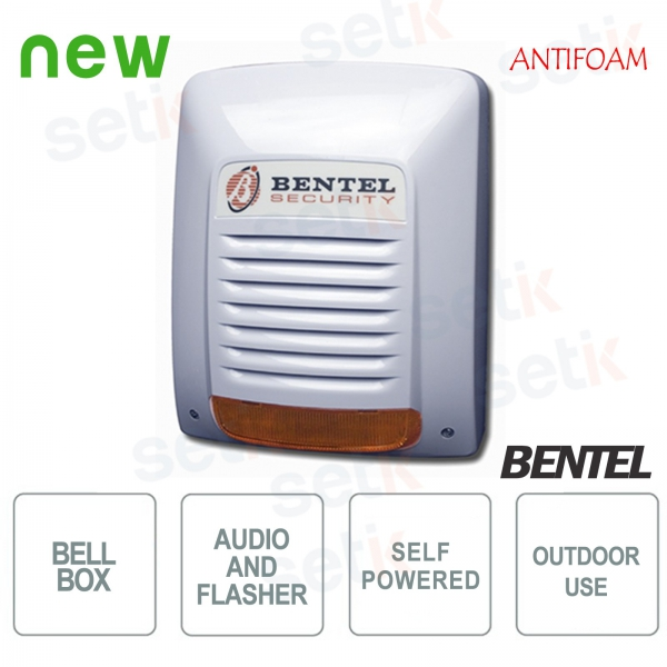 NEKA-F self-powered outdoor siren with Bentel defoamer