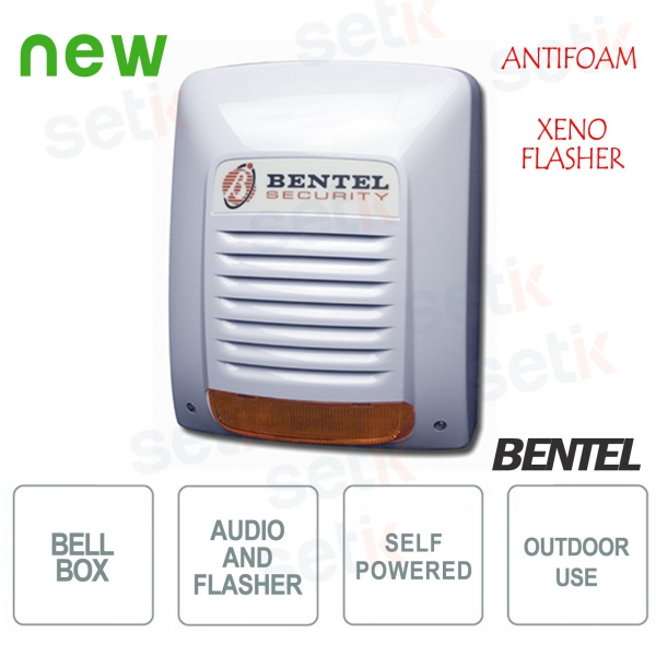 NEKA-FS outdoor self-powered siren with xenon anti-foam flasher