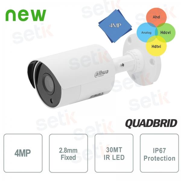 Telecamera Dahua 4MP IR 4 in 1 HDCVI 2.8mm da esterno