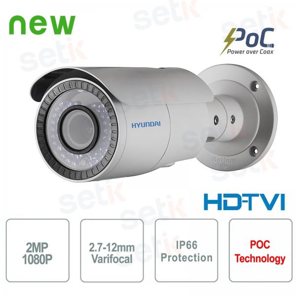 Hyundai PoC Video surveillance camera 2 MP HDTVI Bullet 2.7-12 mm IR