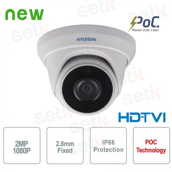 Hyundai PoC video surveillance camera 2 MP HDTVI Dome 2.8 mm IR