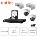 KIT 8 Channels HD CVI 4Megapixel Complete Dahua - Outlet