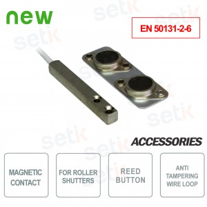 Magnetic contact for roller shutters - EN 50131-2-6 - CSA