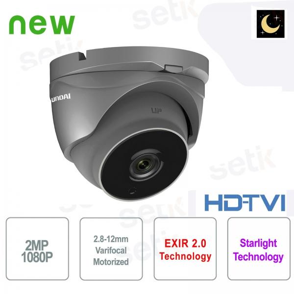 Hyundai Camera 2 MP HDTVI Starlight Motorized Dome WDR - Gray